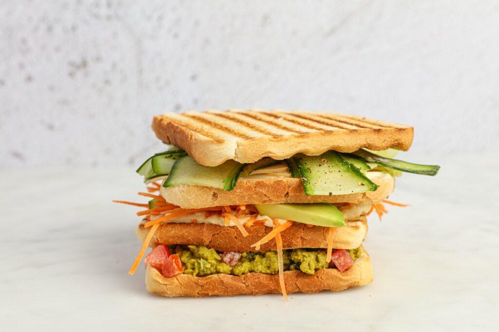 Vegan clubsandwich