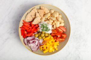 Vegan griekse bonen salade