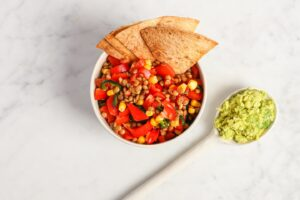 vegan taco linzensalade