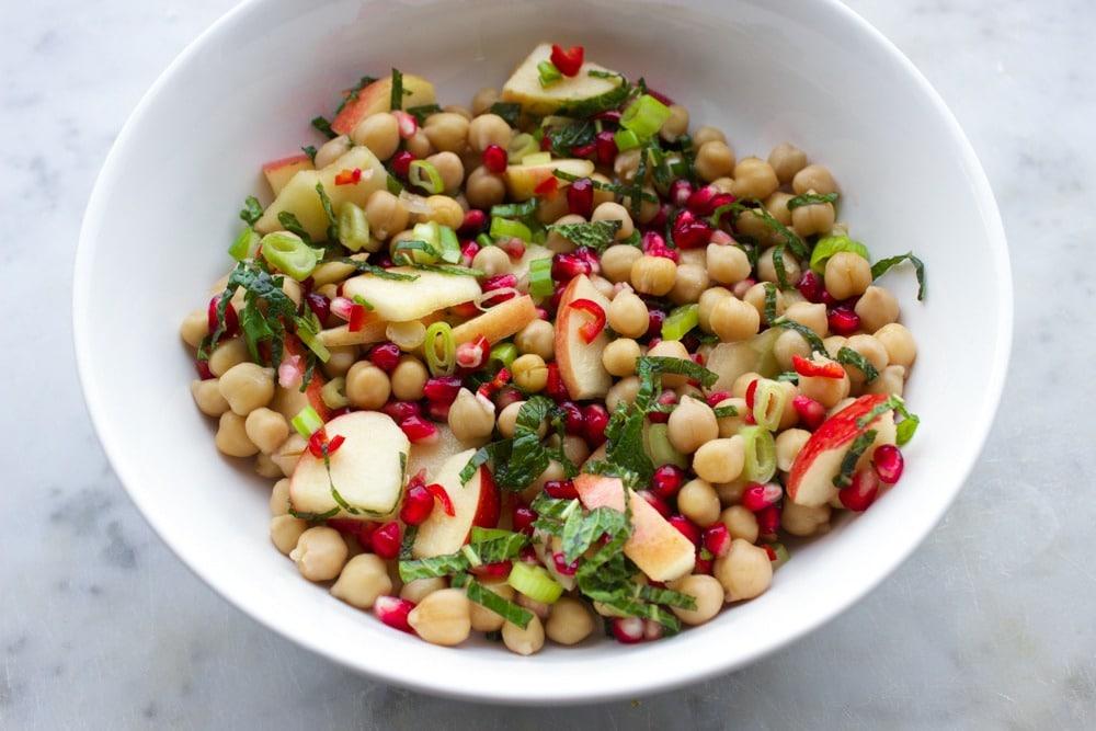vegan kikkerwerwten salade