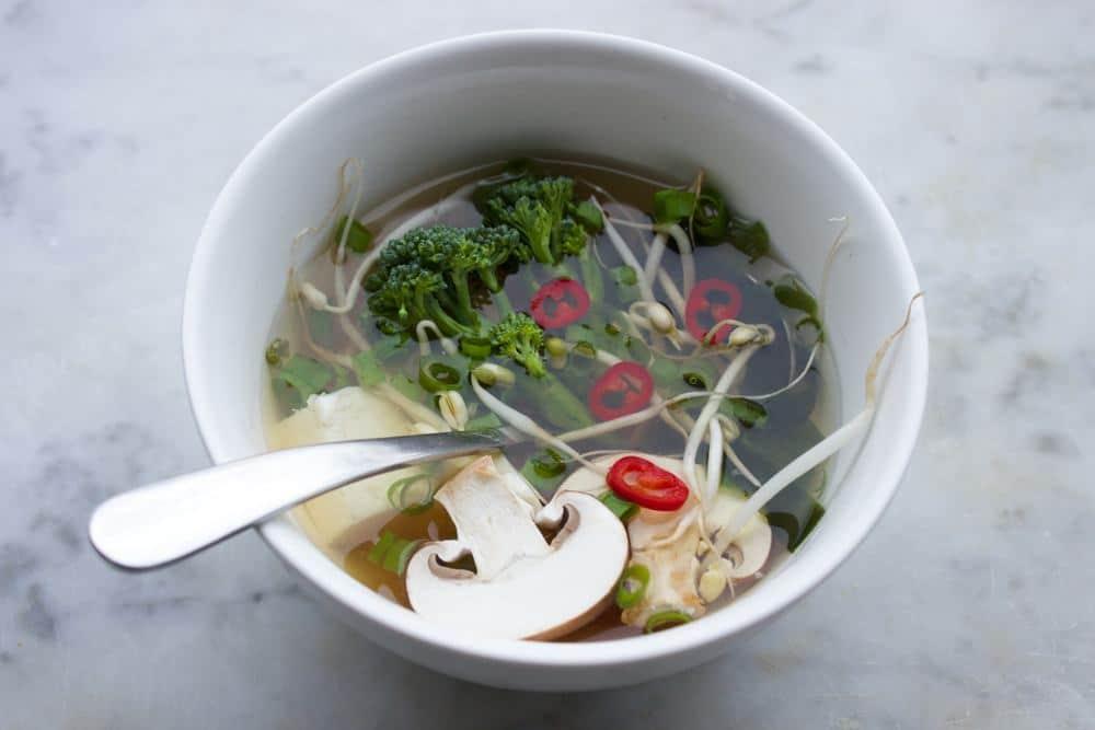 vegan miso soep