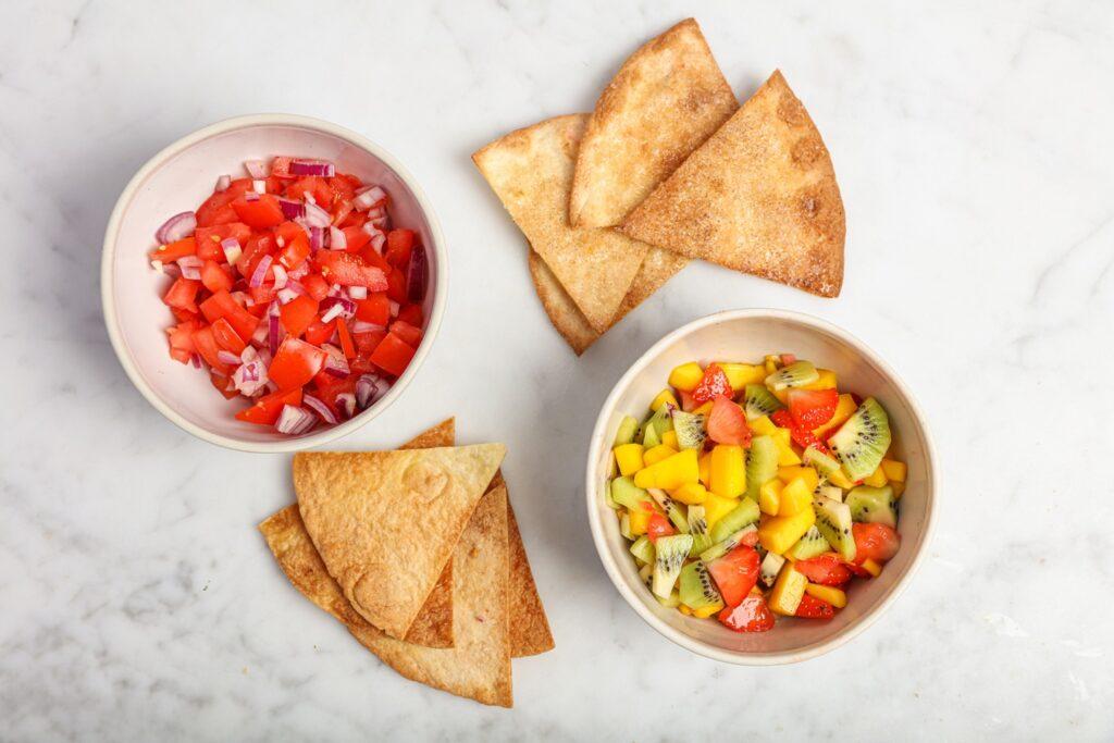 Vegan zoete en hartige taco snack