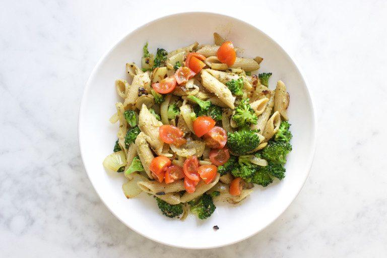 vegan pasta pesto