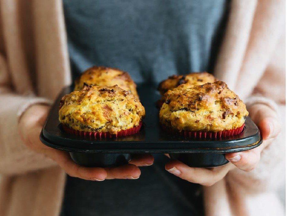 vegan bosbessen muffins