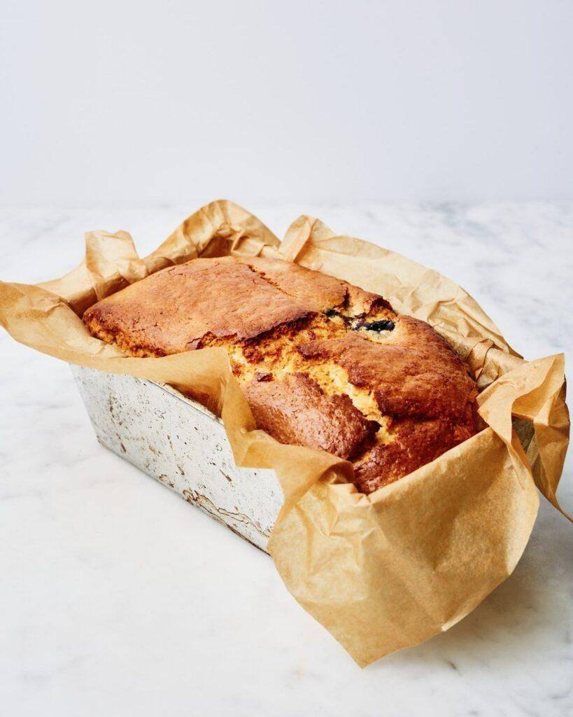 vegan blauwe bessen cake