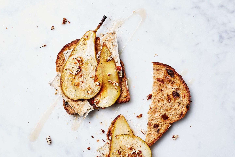 Notenbrood met peer en fermentino