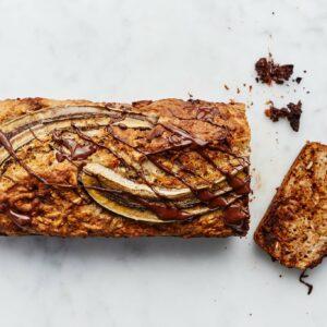Vegan banenenbrood met Tony's Chocolonely