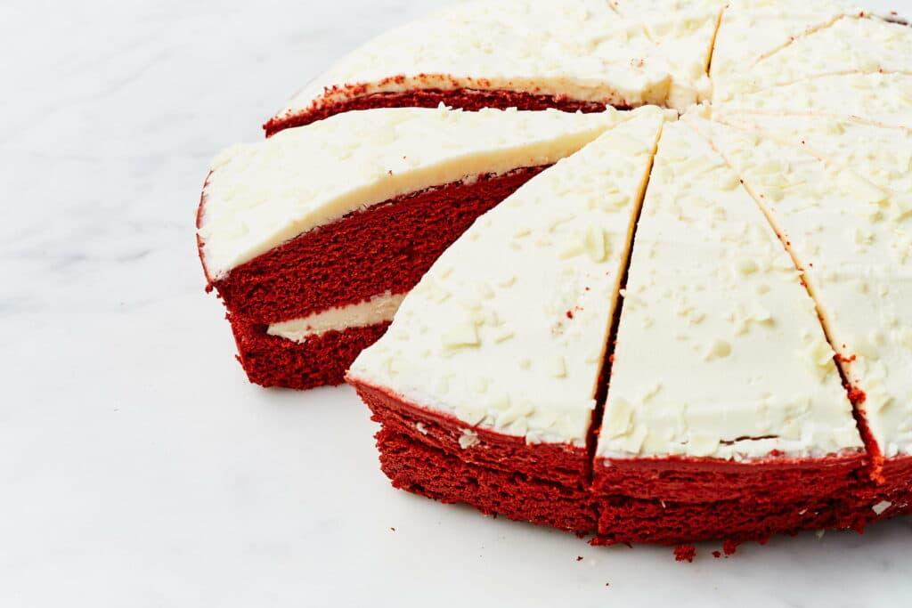 Vegan red velvetcake