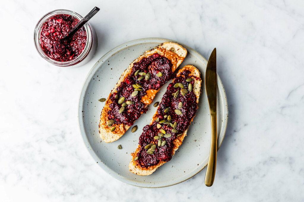 Vegan Broodbeleg chia jam