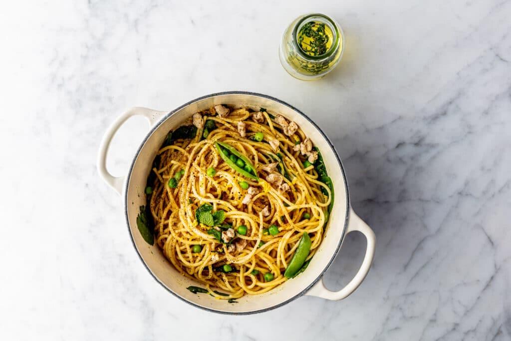 Spinazie-Citroen Pasta
