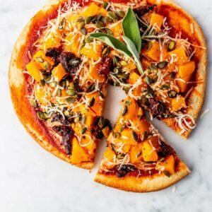 Vegan Pumpkin pizza