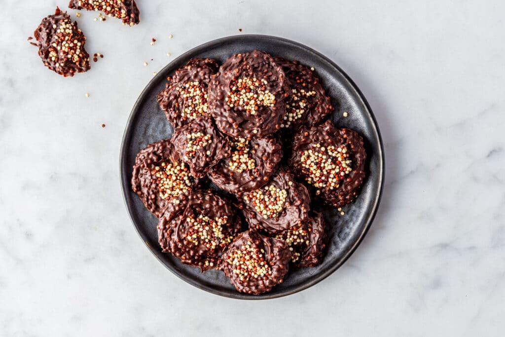 Chocolade quinoa koekjes