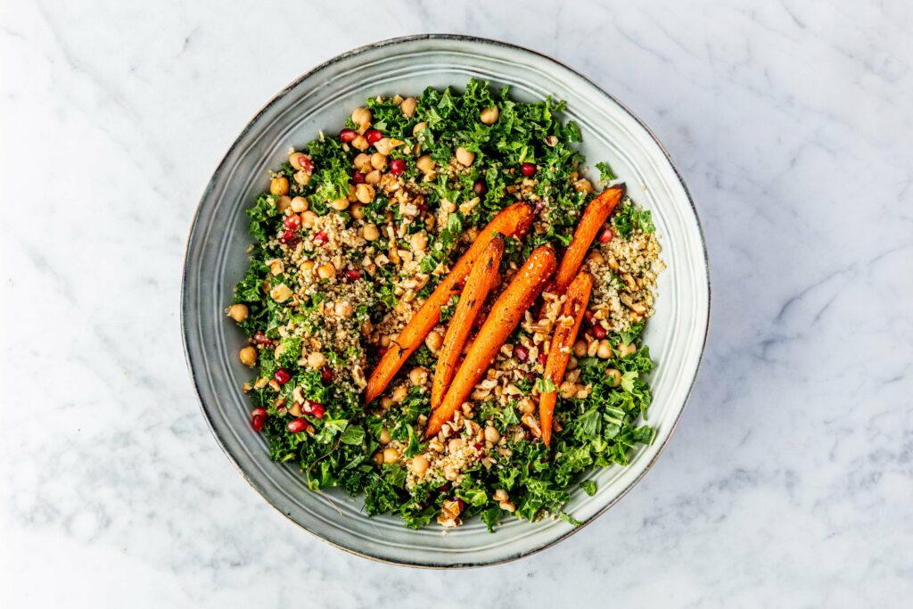 Geroosterde wortel salade