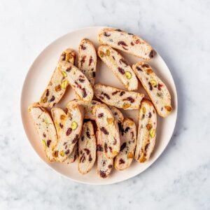 Biscotti met pistache cranberries