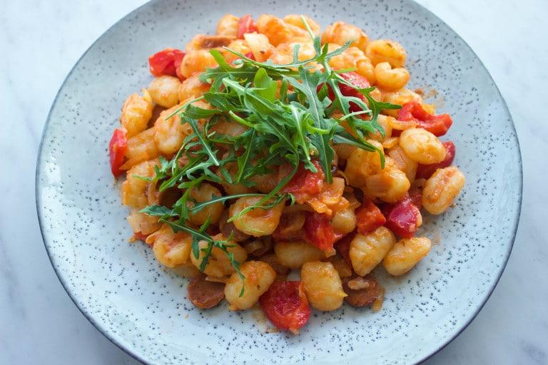 vegan gnocchi met tomatensaus