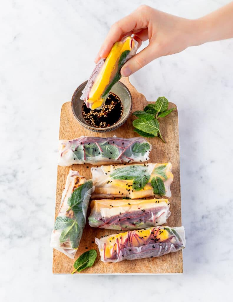 12 weken-programma - easy vegan - summer rolls - spring rolls