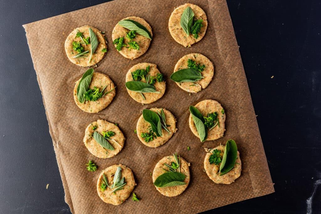 hartige shortbread cookies voordat ze de oven in gaan