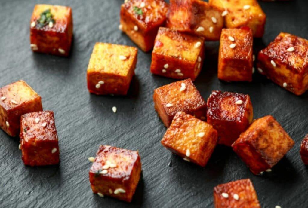 knapperige tofu
