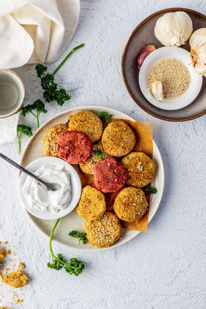bieten falafel, classic falafel en erwten falafel