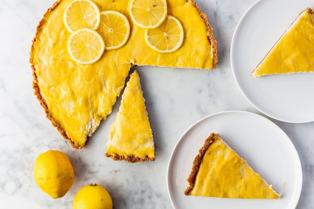 Vegan No-bake citroen cheesecake