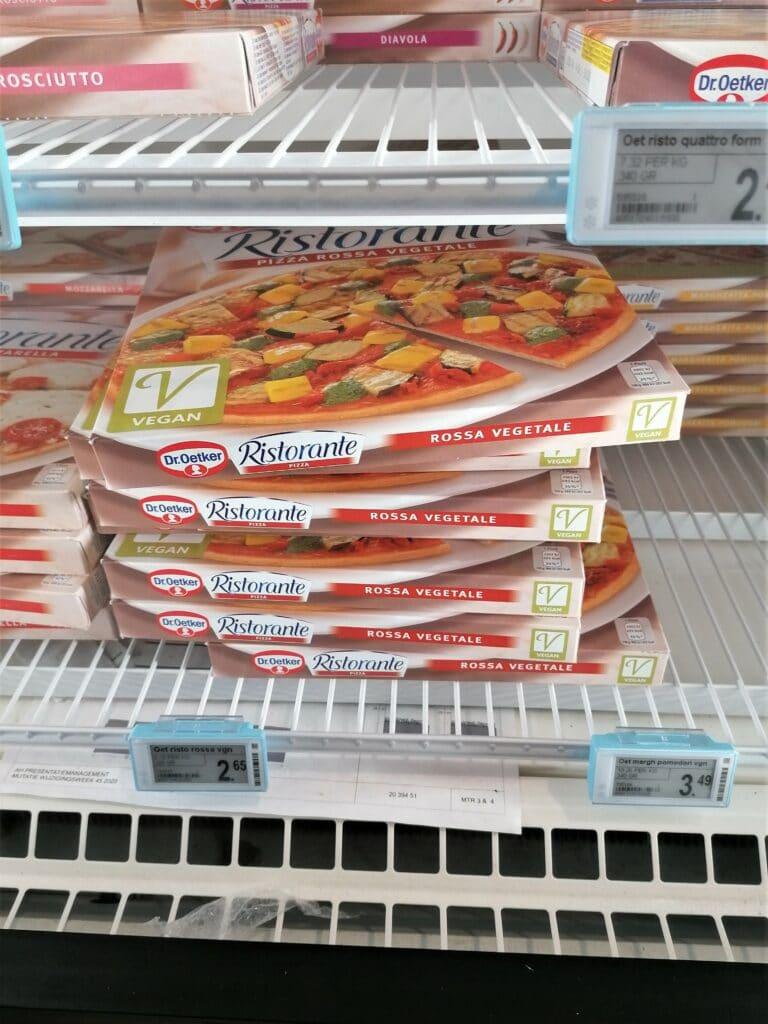 Vegan pizza uit de supermarkt