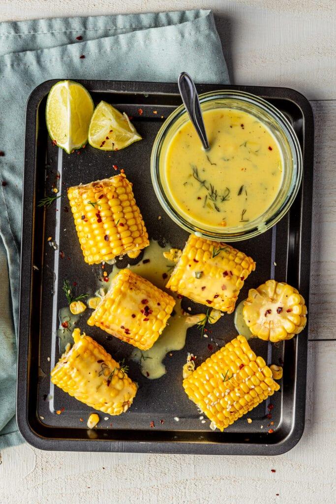 Vegan saus voor geroosterde mais recept