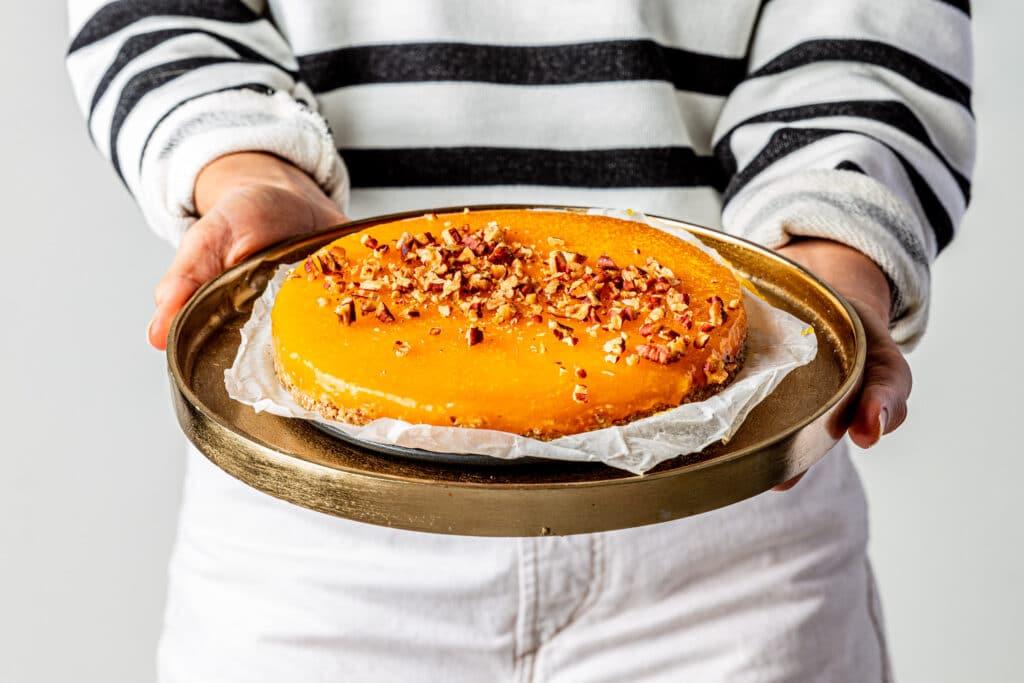 Havermout cake met mango en kurkuma recept