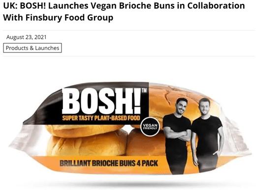 Vegan in het nieuws - BOSH! brioche buns