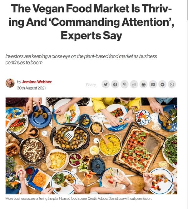 Vegan in het nieuws - groei plantaardige markt hoe zit het
