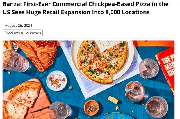 Vegan in het nieuws - kikkererwtenpizza