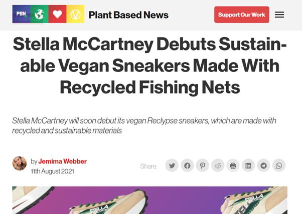 Vegan in het nieuws - stella McCartney