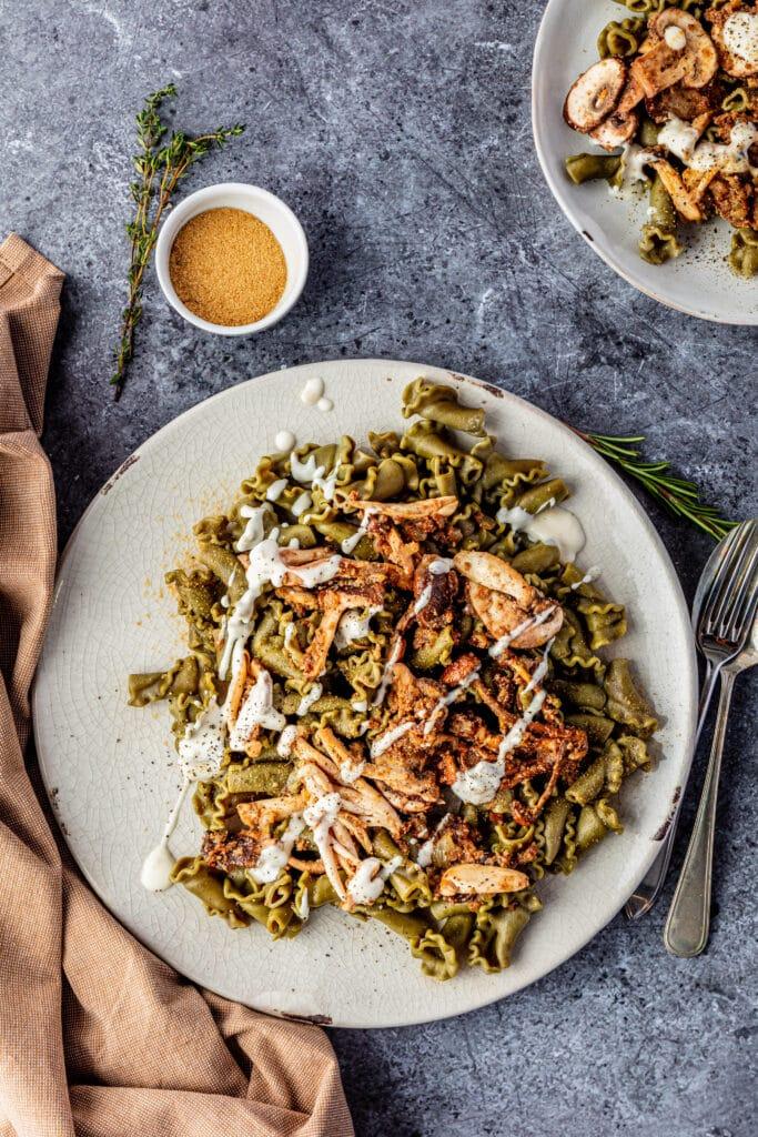 VeggiPasta met spinazie