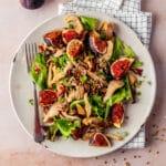 Heerlijke salade met vijgen en oesterzwam