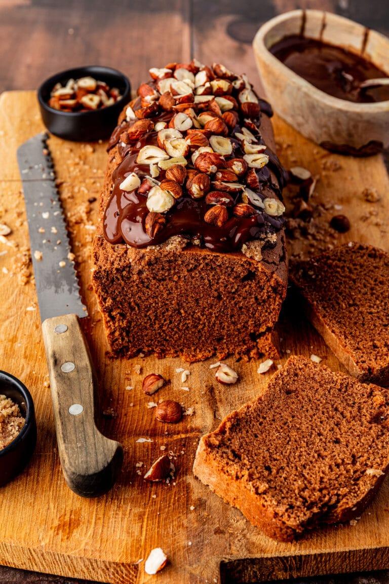 Vegan hazelnootcake met praline recept