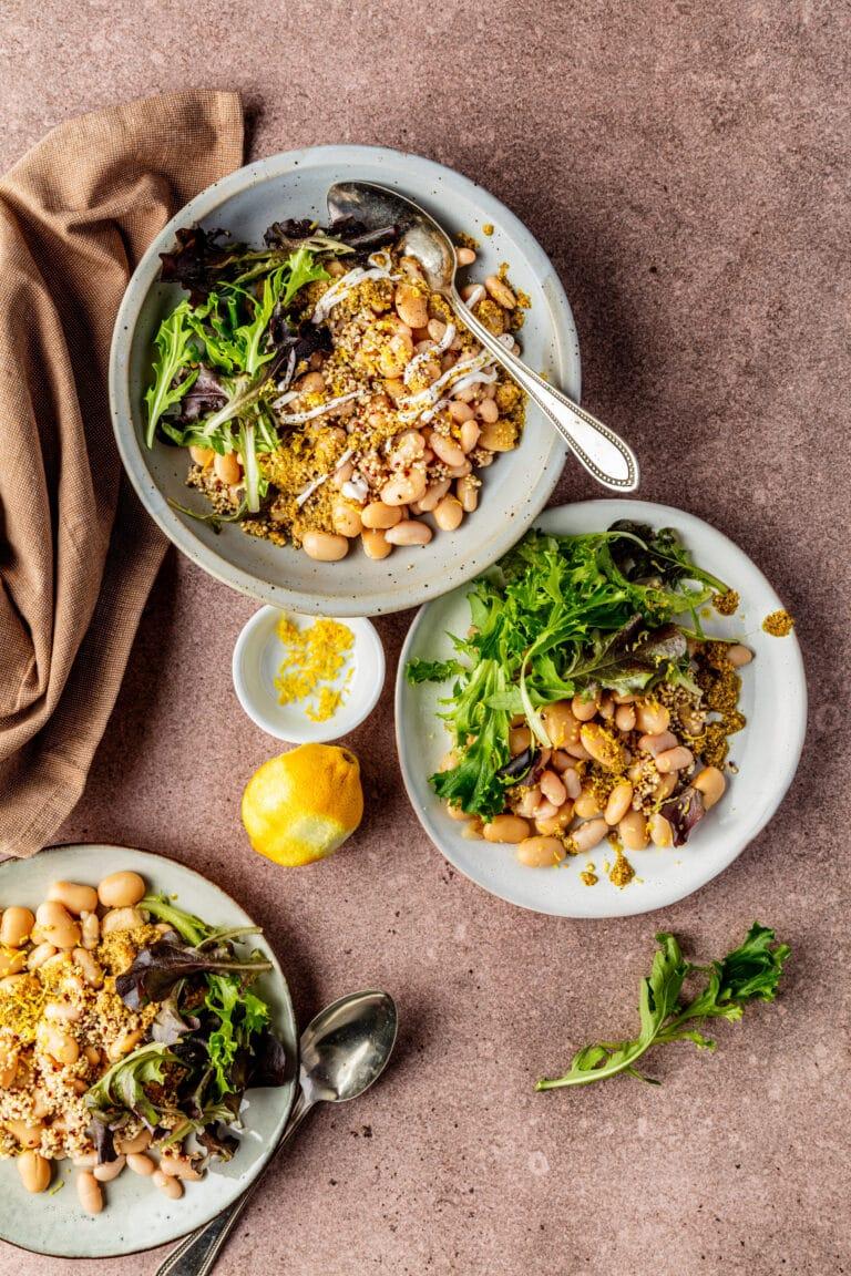 Witte bonen salade met pesto recept
