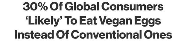 vegan in het nieuws - een derde van de mensen geinteresseerd in vegan ei-alternatieven