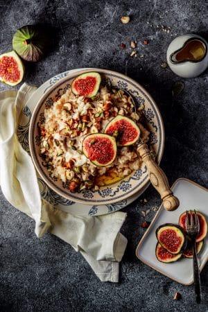 Vegan rijstepap met vijgen recept